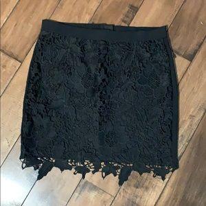 Women's black lace amaerican Eagle skirt